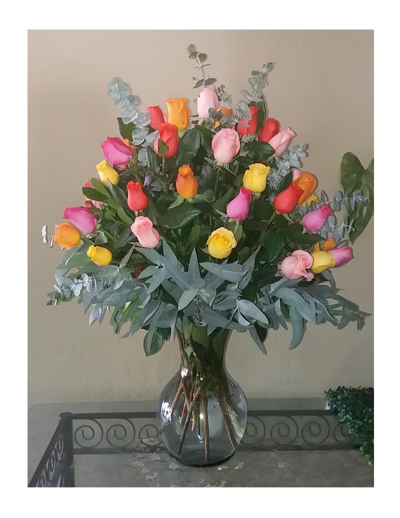 Multicolor 50 Rosas
